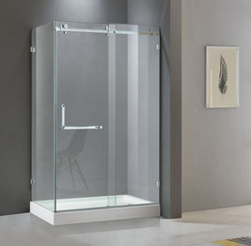 Rectangular shining stainless steel shower enclosure 900*1200 with one sliding door and two fixed panels
