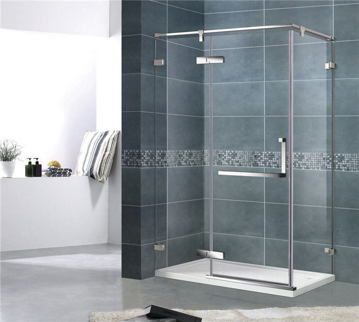 Economic 8MM Single Door Shower Enclosure With Stainless Steel Support Bar and Accessories