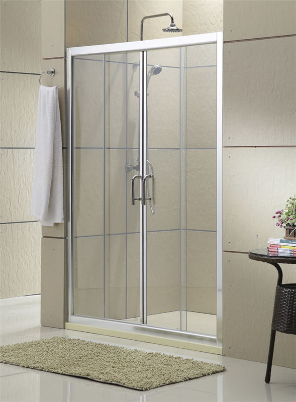Clear Tempered Glass Double Sliding Shower Doors 1600x1900MM Full Shower Enclosure